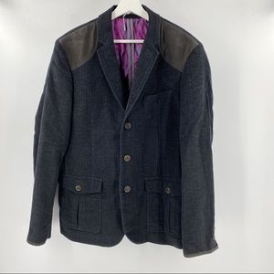 Ted Baker London wool blazer with purple lining